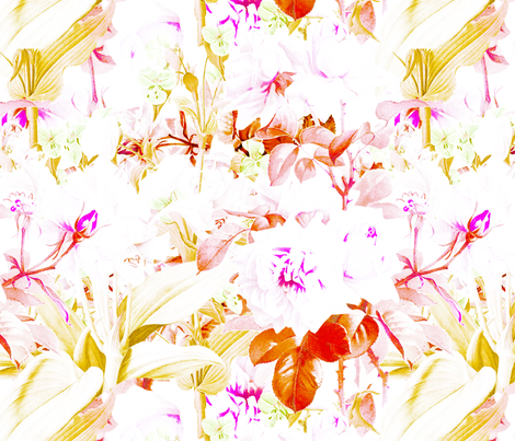 Tropical Bright Autumn Roses fabric by phrosne_ras on Spoonflower - custom fabric