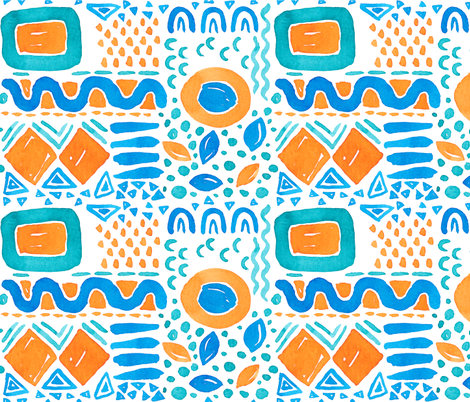 Catch the Wave 11 fabric by the_unfinished_sketchbook on Spoonflower - custom fabric