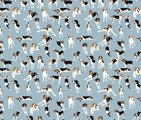 Tree Walker coonhounds fabric by vieiragirl on Spoonflower - custom fabric