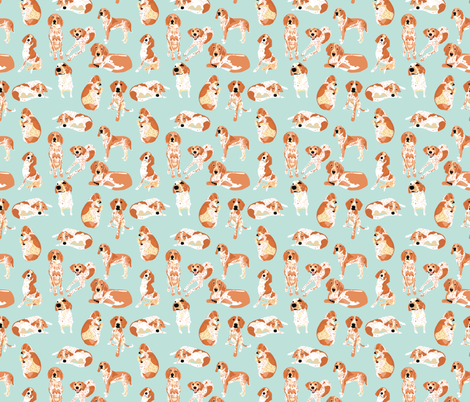 Redtick Coonhound fabric by vieiragirl on Spoonflower - custom fabric