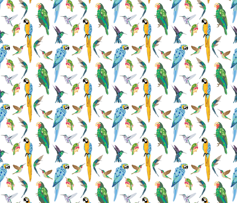 Tropical Birds fabric by vieiragirl on Spoonflower - custom fabric