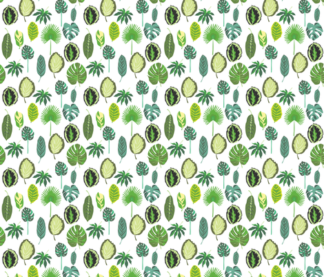 Tropical Leaves fabric by vieiragirl on Spoonflower - custom fabric