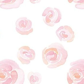 peach and pink watercolor roses