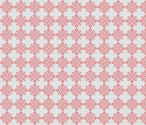 Redwork Geometric Design fabric by ameliae on Spoonflower - custom fabric