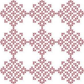 Redwork Geometric Design