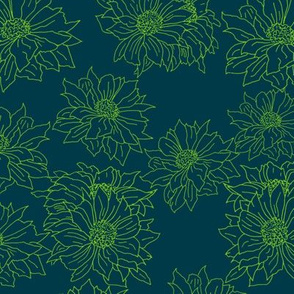 mums green on dark navy