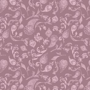 Two Tone Paisley Gray Lavender