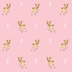 Bambi Speckled Deer Pink