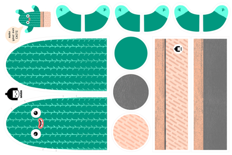 Cacti 1 fabric by -nama- on Spoonflower - custom fabric