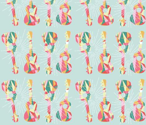Ukes - 7 fabric by owlandchickadee on Spoonflower - custom fabric