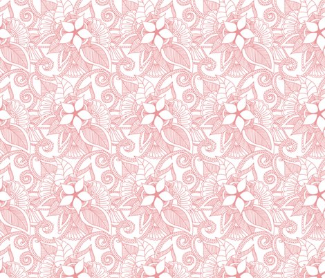 Yoga Indian Henna Design Petal Pink Wallpaper Khaus Spoonflower