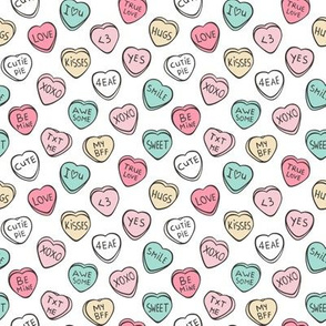 Conversation Candy Hearts Valentine Love  Tiny Small