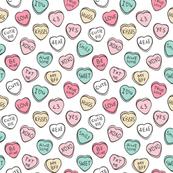 Conversation Candy Hearts Valentine Love  Tiny Small