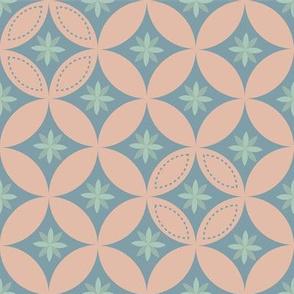 Geometry Pattern - Salmon Pink