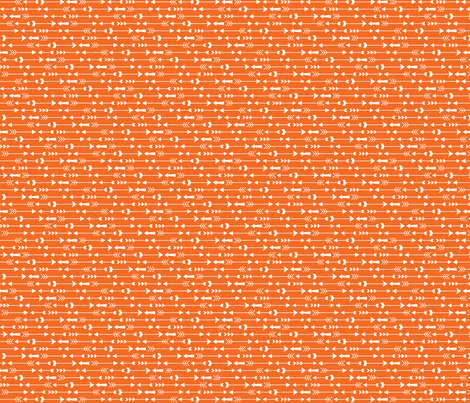 live free : love life arrows orange fabric by misstiina on Spoonflower - custom fabric