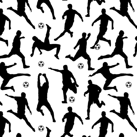 Soccer Players // Small fabric by thinlinetextiles on Spoonflower - custom fabric