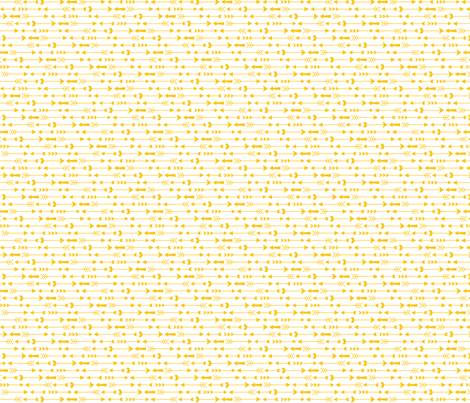 live free : love life arrows yellow on white fabric by misstiina on Spoonflower - custom fabric