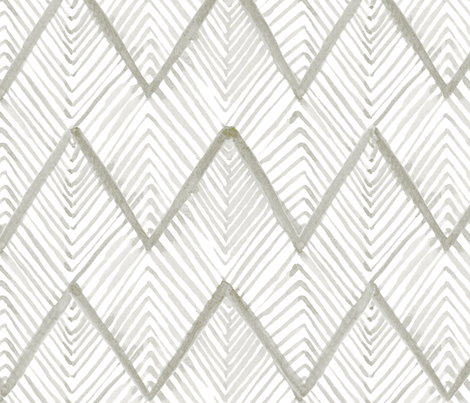Tan Watercolor Chevron fabric by laurapol on Spoonflower - custom fabric