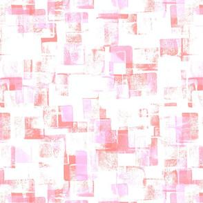 Block Print Pink Red