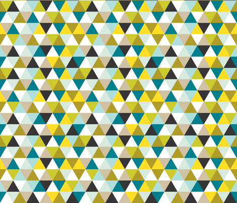 mustard seed triangles fabric by ivieclothco on Spoonflower - custom fabric