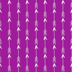 arrows // purple arrow fabric brights