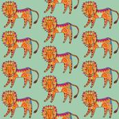 Curious Colorful Lion
