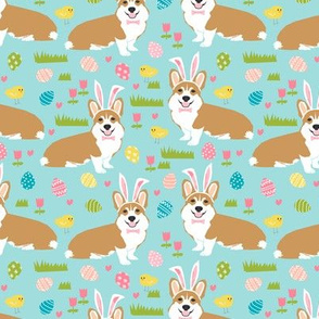 corgi easter bunny pastel spring fabric cute easter design