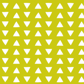 Citron Hand Drawn Triangles