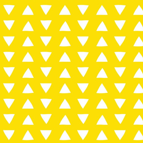 Yellow Hand Drawn Triangles