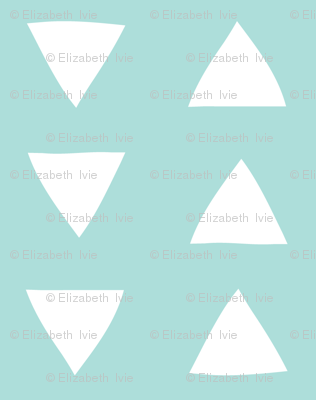 Aqua Blue Hand Drawn Triangles