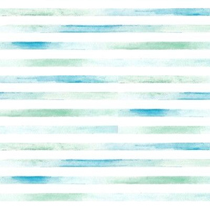 blue and green watercolor stripes