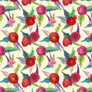 Island Poppies , Large Print // Ivory
