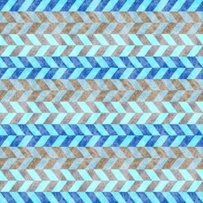 Braided Blue Tan Crosswise 150