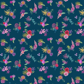 Provo Floral // Dark Teal