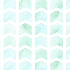 blue and green watercolor chevrons