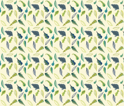 Leaves of Provo // Ivory  fabric by theartwerks on Spoonflower - custom fabric
