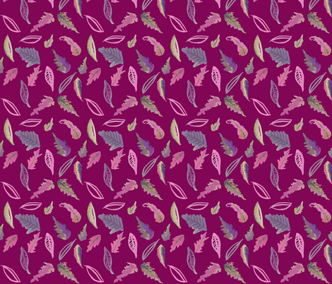 Spring in Turks // Mulberry  fabric by theartwerks on Spoonflower - custom fabric