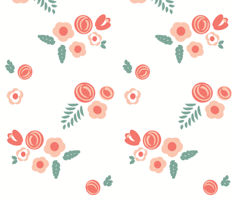 forest florals ©2017 jill bull fabric by palmrowprints on Spoonflower - custom fabric