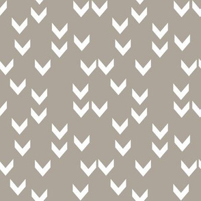 Taupe Scattered Chevron