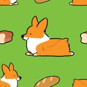 Corgi Bread Loaf Sploot