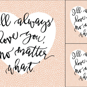 1 blanket + 2 loveys: I'll Always Love You, No Matter What // Blush Dots Heart