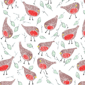 Chalk robins
