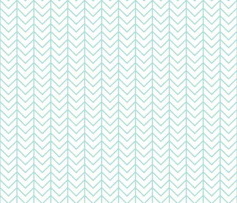 aqua chevron fabric by ivieclothco on Spoonflower - custom fabric