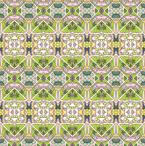 A Most Edwardian Spring fabric by edsel2084 on Spoonflower - custom fabric