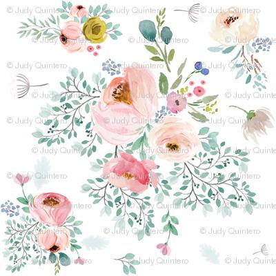 """6"""" April Love / Full Bloom - White"""