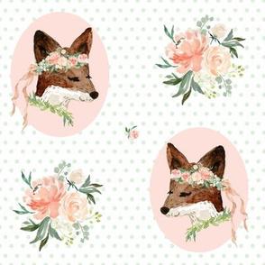 """8"""" Spring Girl / Pink Polka Dots"""