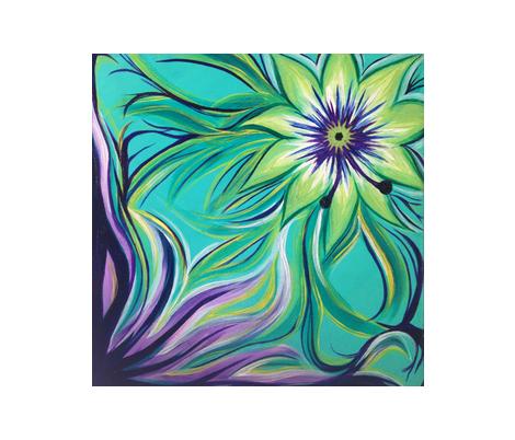 Flower Imaginarium   fabric by amara328 on Spoonflower - custom fabric