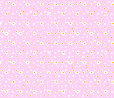Little_Carmilite_Daisies fabric by saintly_stitches on Spoonflower - custom fabric