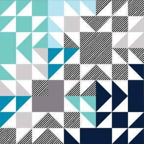 Sea Glass Puzzle Wholecloth