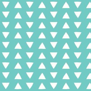 sea glass hand drawn triangles